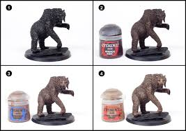 tutorial how to paint beorn in bear form tale of painters
