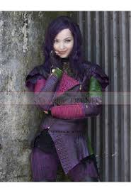 Mal Costume Cameron Disney Descendants Mal Costume Leather Jacket