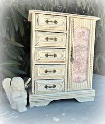 Shabby Chic Jewelry Display by Vintage Decoupaged Jewellery Box Jewelry Box Shabby Chic Jewel