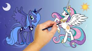 mlp princess celestia luna coloring pages pony