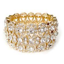 gold wedding bracelet images Gold wedding bracelet rhinestone stretch bracelet rhinestone jpg