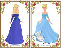 heroine maker aurora cinderella blue dresses by sailorusagi58 on