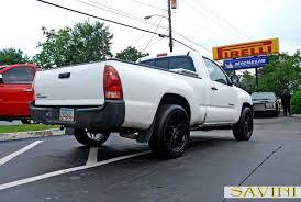 white toyota truck tacoma savini wheels