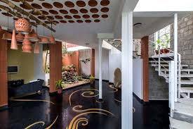 Modern Traditional House Interior That Blends Traditional Indian Features And Modern Style