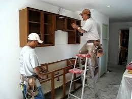 installing upper kitchen cabinets youtube