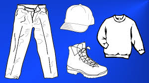 shoes hats pants sweaters coloring pages youtube