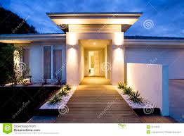 contemporary home front entrance royalty free stock photography