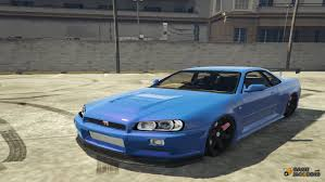 nissan skyline r34 modified skyline gtr r34 for gta 5