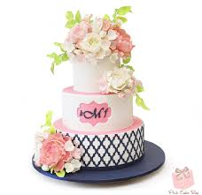 cakes candy and flowers visual glossary of cake terms pink cake box