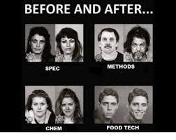 Tech Meme - before and after methods spec food tech chem meme on me me