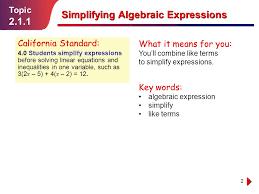 simplifying algebraic ppt video online download