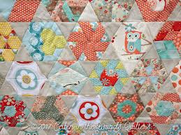 week 11 new hexagon quilt along blocks 51 52 and finished quilt