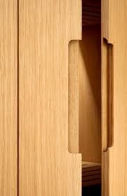 beautiful joinery detail oak finger pull cupboard cut out groove