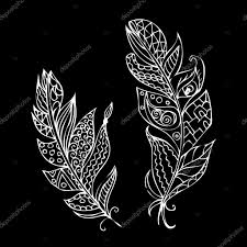 imagenes blancas en fondo negro plumas ornamentales blancas sobre fondo negro archivo imágenes
