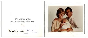Prince Charles Princess Diana Lot Detail Princess Diana U0026 Prince Charles Signed Christmas Card