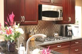 kitchen glass backsplash cherry cabinets s