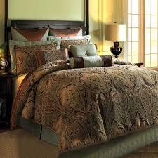 Damask Bedding Comforter Collections Fingerhut Brown Paisley Comforter Bedding