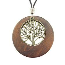 vintage necklace pendants images Vintage pendants tree of life wooden necklace jpg