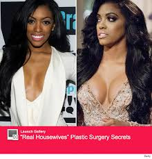 what type of hair does porsha stewart wear porsha stewart teases boob job see before after toofab com
