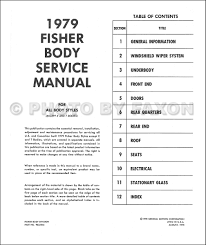 1979 cadillac body shop manual reprint