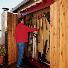 How To Build A Small Backyard Storage Shed by How To Make An Under Eaves Toolshed Sunset
