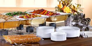 how to set a buffet table with chafing dishes thanksgiving chafing dishes aluminum pans party city