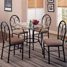 Wrought Iron Kitchen Tables by This Lovely Dining Table And Chair Set Will Be The Perfect