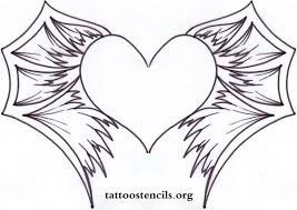 pictures of beauty tattoos hearts with wings