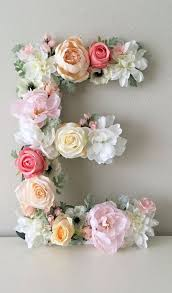 Decorated Letters For Nursery Floral Letter Floral Initial Nursery Letter Flower Letter