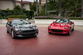 fiat roadster 2017 fiat 124 spider and 2016 mazda miata head to head news