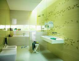 Tiny Bathroom Colors - bathroom beautiful small bathroom design with green floral wall