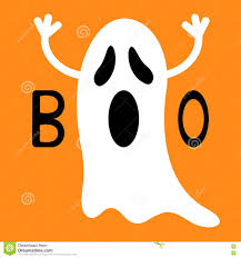 cute happy halloween images happy halloween funny flying ghost with hands boo text greeting