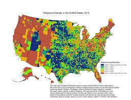At T United States Coverage Map by Religion In America U0027s States And Counties In 6 Maps The