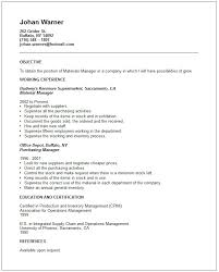 Resume Objective For Warehouse Worker Bunch Ideas Of Material Management Resume Sample For Sheets