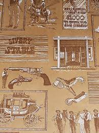 cowboy wrapping paper vintage wrapping paper newspaper print gift wrap 2 yards 6 88
