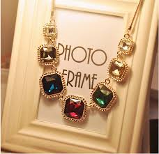 big crystal statement necklace images New bubble bib statement necklace pendant fancy color diamonds big jpg