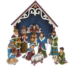 jim shore heartwood creek victorian 10 piece mini nativity set