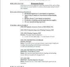 resume sample restaurant restaurant server resume by resume sample