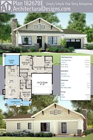 plan 18267be simply simple one story bungalow architectural house
