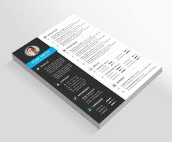 resume cover letter business card resume templates creative market