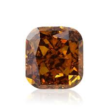 0 75 carat fancy deep brownish orange loose diamond natural color