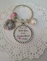 godmother keychain godmother keychain key chain will you be my godmother baby girl