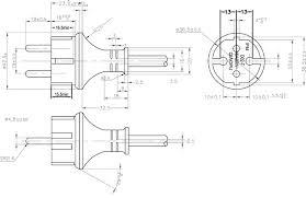 cee 7 17 ip44 german plug power cord