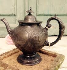 antique pot metal ls a darling shabby chic vintage french decorative pewter tea coffee pot