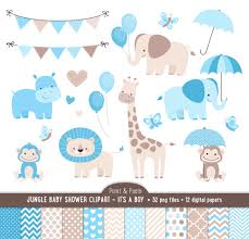 baby shower clip art jungle animals baby boy clipart it u0027s a boy