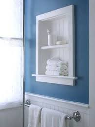 Diy Bathroom Wall Cabinet by How To Make Your Own Built In Shelves Small Bathroom Basements