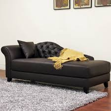 Double Chaise Lounge Chair Classy Chaise Lounge With Dark Leather Accents Combined Tufted