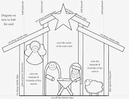 hollyshome church fun a manger christmas card to color cut and