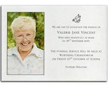 announcement cards funeral announcement cards announcement cards and