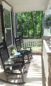 Rocking Chairs On Porch My Southern Front Porch Design The Black Rocking Chairs Are